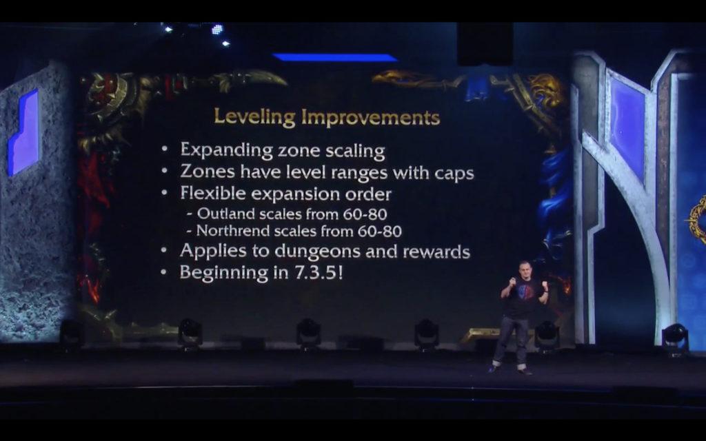 WoW:BfA Mejoras al subir de nivel